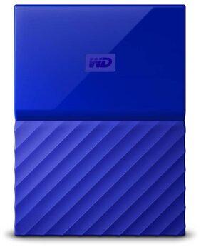WD My Passport WDBYNN0010BBL 1 TB Portable External Hard Drive (Blue)