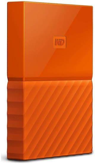 WD My Passport 2 TB Hard Disk Drive External Hard Disk USB 3.0 - Orange , WDBS4B0020BOR-WESN