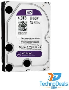 WD WD40PURZ Purple 4TB Surveillance Hard Drive SATA