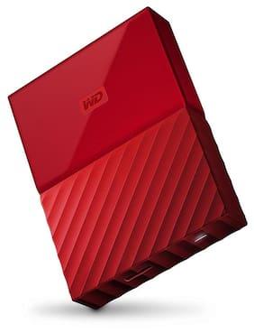 WD My Passport WDBS4B0020BRD-WESN 2TB External Hard Drive (Red)