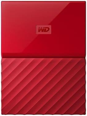 WD My Passport 1 TB Hard Disk Drive External Hard Disk USB 3.0 - Red , WDBYNN0010BRD