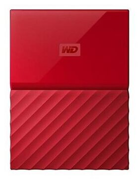 WD WDBYNN0010BRD My Passport 1TB Portable External Hard Drive (Red)