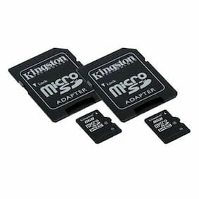 ZTE Concord Cell Phone Memory Card 2 x 8GB microSDHC Memory Card with SD Adapter