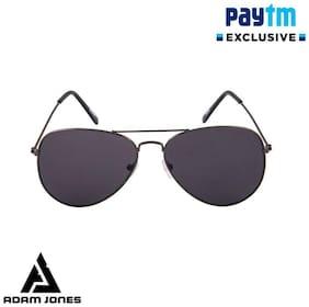 Adam Jones Black Aviator Sunglasses for men and women (Gun Metal Frame with CR lens)
