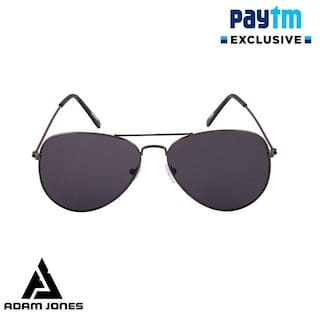 f39389bda4 Buy Adam jones Black Aviator Medium Sunglasses Online at Low Prices ...
