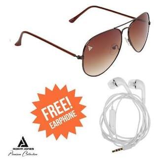 6f4f2c5bf20 Buy Adam jones Brown Aviator Medium Sunglasses Online at Low Prices ...