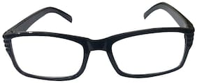 Affable Black Rectangle Full Rim Eyeglasses for Men - 1