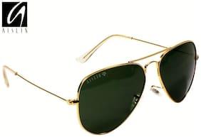AISLIN Premium Golden Aviator Sunglasses (AS-3025DH-2-GLD)