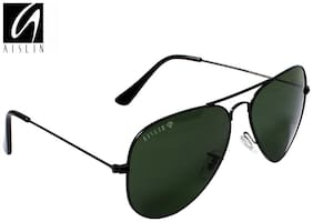 AISLIN Premium Black Aviator Sunglasses (AS-3025DH-2-BLK)