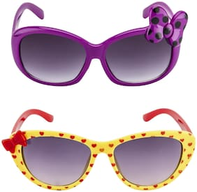 Amour Purple & Yellow Oval Eyeglasses for Kid's