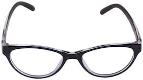 ANSH BLUE BAY COMPANY Black Oval Full Rim Eyeglasses for Men - 1