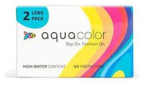 Aqua Color Monthly Disposable Color Lenses (2 Lenses/box/Plano) (Fierce Green) By LENSKART