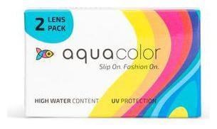 Aqua Color Monthly Disposable Color Lenses (2 Lenses/box/Plano) (Sincere Gray) By LENSKART