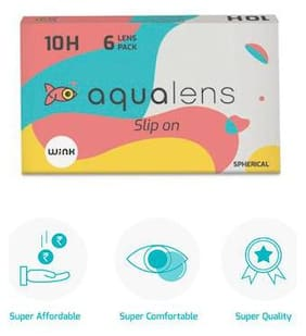 Aqualens Clear Monthly Contact Lenses - 6 lens pack By LENSKART