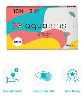 Aqualens 10 H Monthly Disposable Contact Lens (3 Lens/Box) - (-4.25) By LENSKART