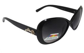 Ar Black Polarized Ovar Sized Sunglasses For Women Mod- 1620