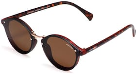 ARCADIO Mirrored lens Round Frame Sunglasses for Women