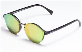 ARCADIO Mirrored lens Round Frame Sunglasses for Men - Sunglass & Warranty card