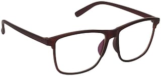 ARZONAI Brown Wayfarer Full Rim Eyeglasses for Men - Sunglass comes with a case & Selvet cloth and a warranty card
