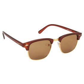Arzonai ClubMaster MA-094-S3 Wayfarer Unisex Brown Sunglasses