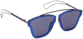 Arzonai Commuter Square Shape Blue-Blue UV Protection Sunglasses For Men & Women [MA-307-S1 ]