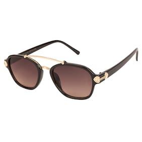 ARZONAI Brown Oval Medium Sunglasses