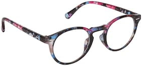 Arzonai STAG Round Multi-Transparent UV Protection Sunglasses | Frame For Men & Women [MA-401-S2 ]