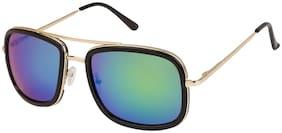 Arzonai Stylish Square Golden-Green UV Protection Sunglasses For Men & Women [MA-320-S5 ]
