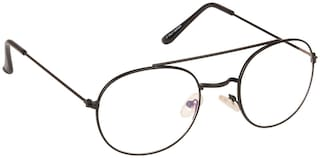 ARZONAI Black Oval Full Rim Eyeglasses for Men - 1