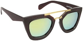 Arzonai ThunderBird MA-092-S3 Cat Eye Women Only Yellow Sunglasses