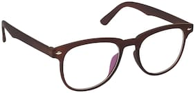 ARZONAI Brown Square Full Rim Eyeglasses for Men - 1