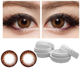 Aura Brown Monthly Contact Lenses - 2 lens pack