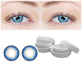 Aura Blue Monthly Contact Lenses - 2 lens pack