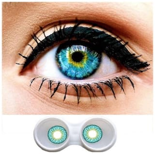 Aura Turquoise Monthly Contact Lenses - 2 lens pack