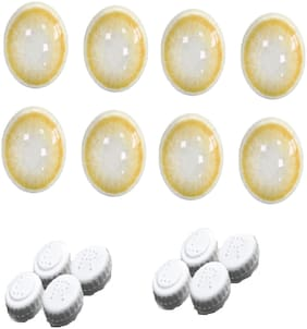 Aura Monthly Contact lens Yellow For Men And Women (Pack Of 4)