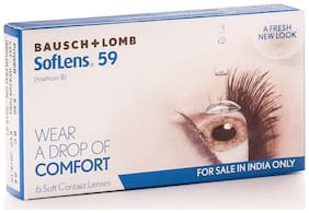 Bausch & Lomb Clear Monthly Disposable Pack Of 6 Contact Lens-SL-59
