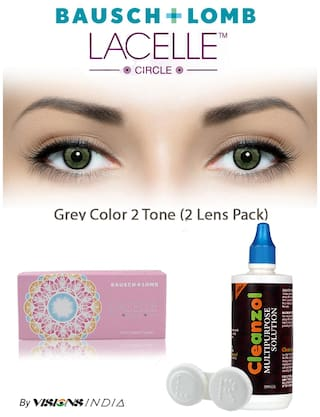 dd96c3dbc52 Bausch   Lomb Lacelle Circle Grey Monthly Contact Lens (2lens Pack) By  Visions India
