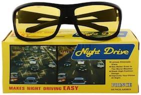 Imported Black Men's Wrap Around Sunglasses