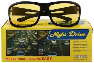 David Martin Black Men's Wrap Around Sunglasses