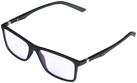 BOVC Black Rectangle Full Rim Eyeglasses for Men