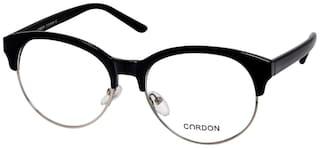 Cardon Black Silver Round Full Rim Eyeframe