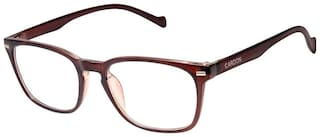 Cardon Brown Wayfarer Full Rim Eyeglasses for Men - 1 cardon eyeglass::1 selvit::1 soft shell case