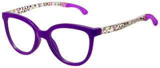 Cardon Purple Oval Full Rim Eyeglasses for Women