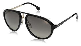 CARRERA [1003/S 807 58PR] SIZE 58 BLACK AVIATOR UV PROTECTED SUNGLASS