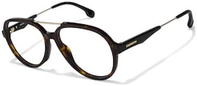 Carrera Brown Aviator Full Rim Eyeglasses for Men - Eyeglass frame & Case