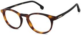 Carrera Brown Round Full Rim Eyeglasses for Men - Eyeglass frame & Case
