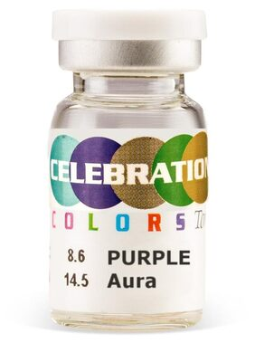 Celebration Conventional Yearly Disposable Purple Aura Color Lens By Hopl