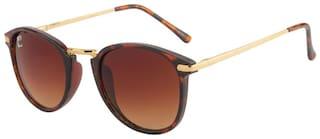 Clark N' Palmer Brown Round Frame Sunglasses