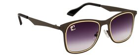 Clark N' Palmer Grey Square Frame Sunglasses