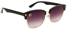 Clark N' Palmer Black Round Frame Sunglasses